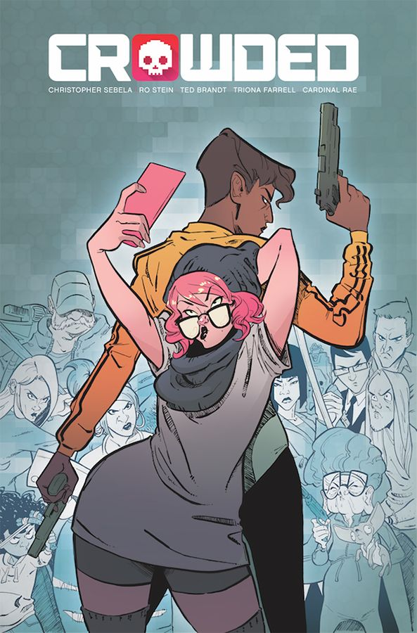 Cover to 'Crowded Vol. 1: Soft Apocalypse.' Art: Ro Stein, Ted Brandt, Tríona Farrell/Image Comics