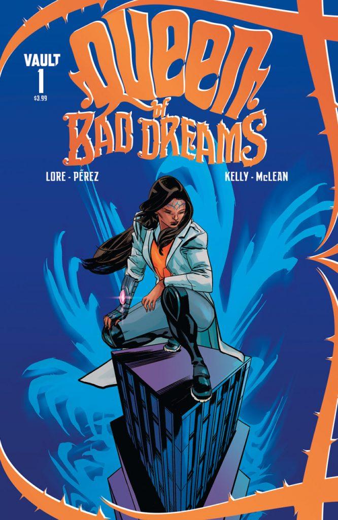 Cover to 'Queen of Bad Dreams'. Art: Jordi Pérez/Vault Comics