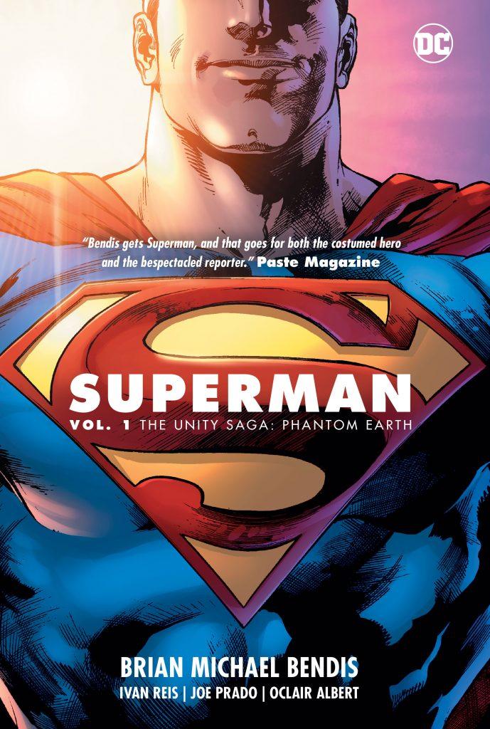 Cover to 'Superman Vol. 1: The Unity Saga: Phantom Earth'. Art: Ivan Reis, Joe Prado and Alex Sinclair/DC