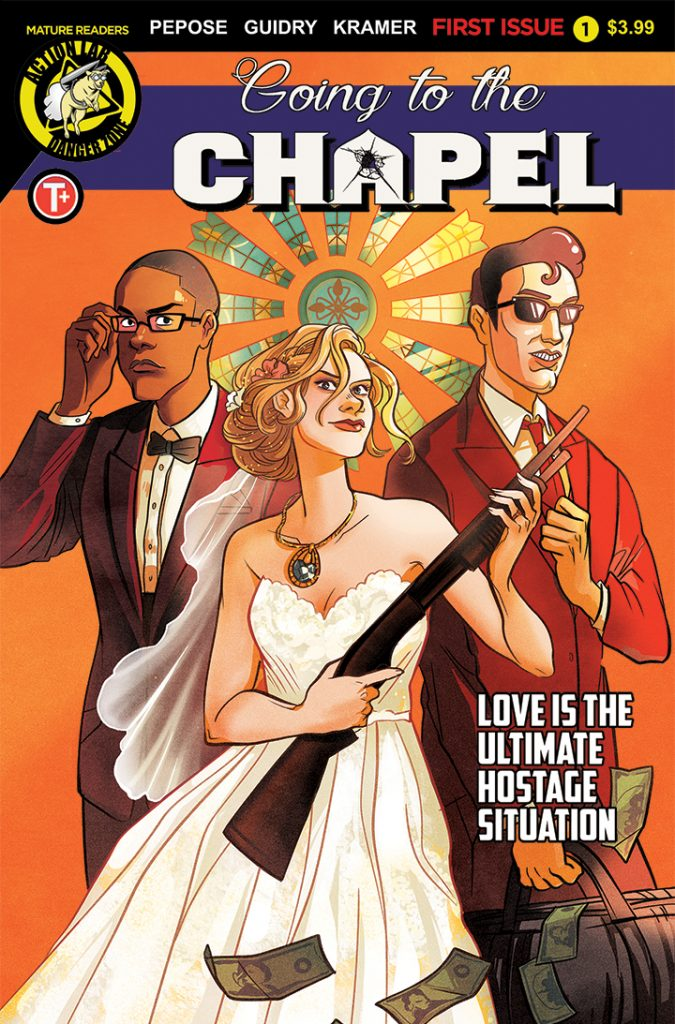 Cover to 'Going to the Chapel' #1. Art: Lisa Sterle/Action Lab: Danger Zone