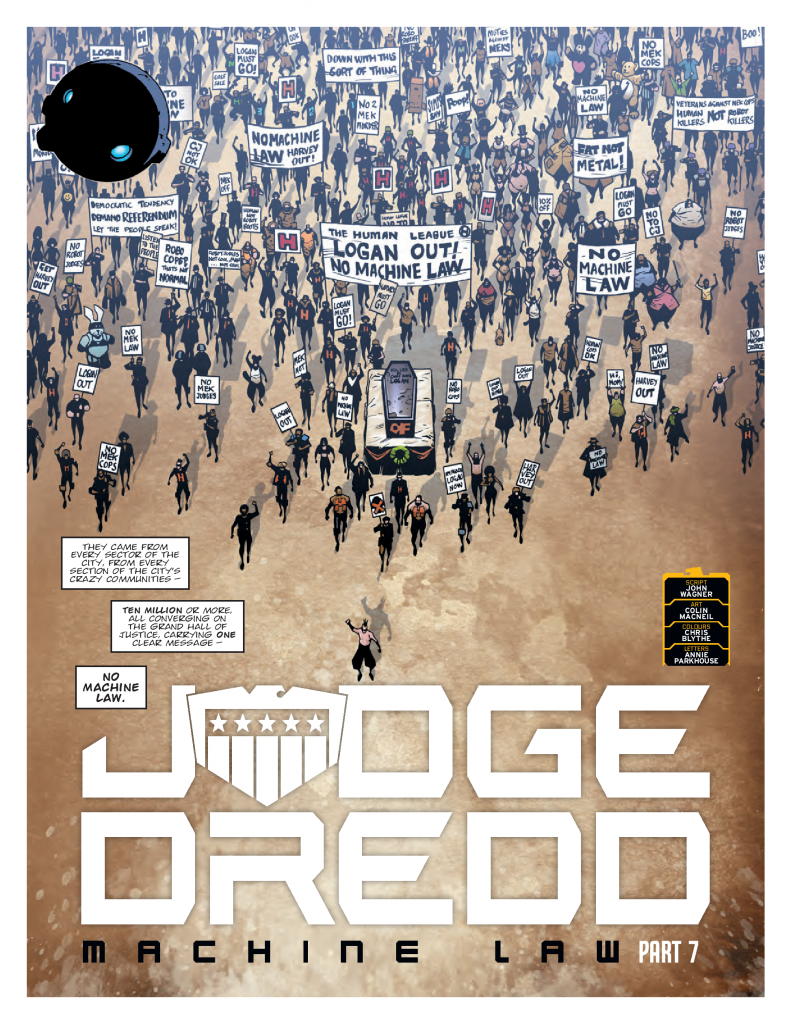 Preview: Dredd's up against a Mega-City melee in '2000 AD
