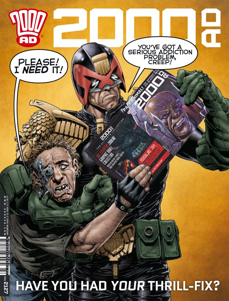 Preview: Get your Thrill-Fix with the circuit-frying sensation that is '2000 AD' prog 2127