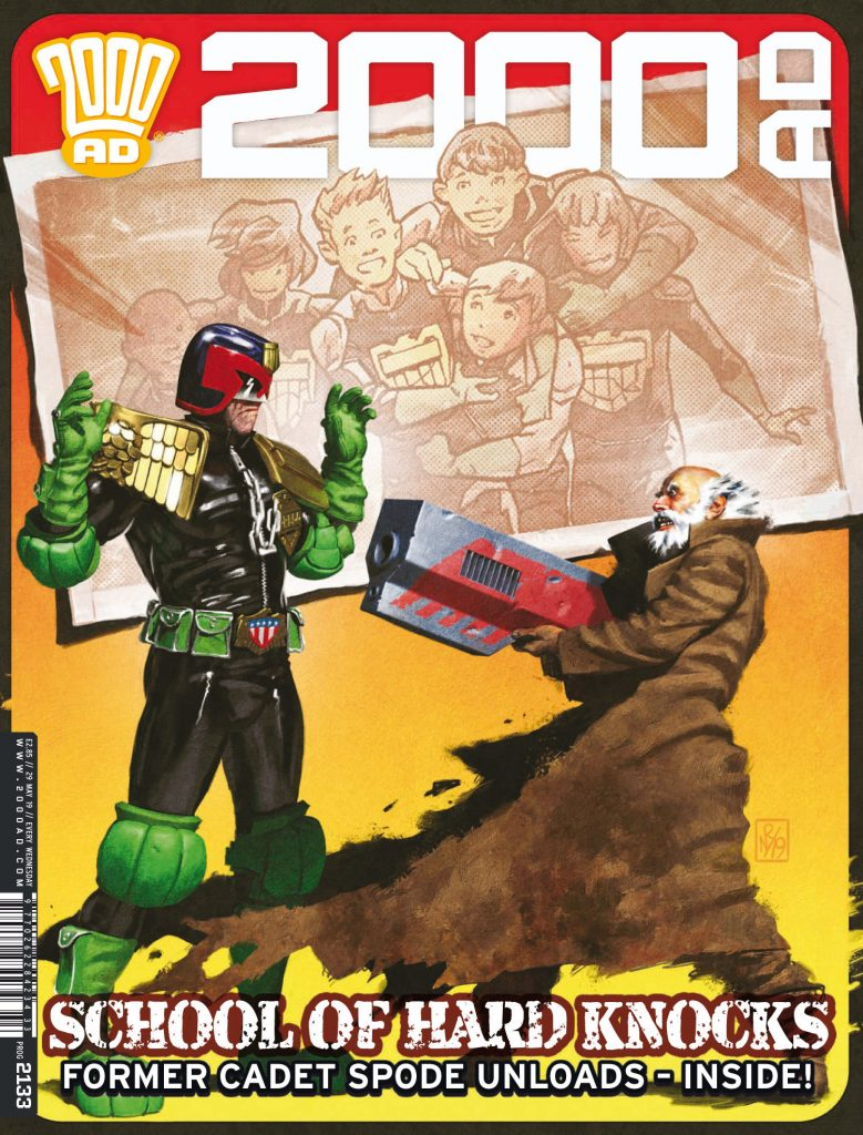 Preview: Dredd & Spode take a Hotdog Run through Memory Lane in '2000 AD' prog 2133