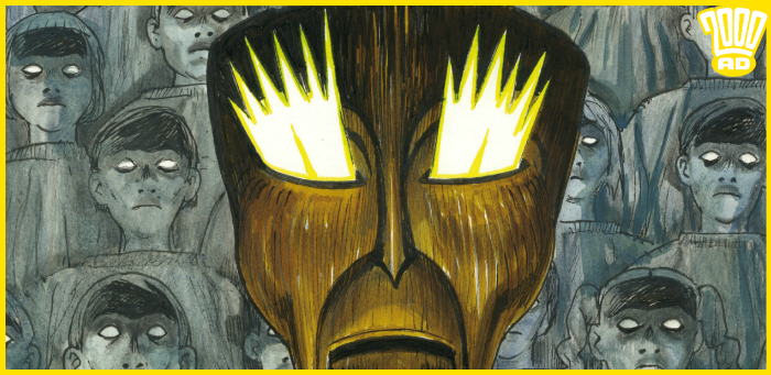 Preview: The fearsome gaze of Quilli adorns '2000 AD' prog 2134