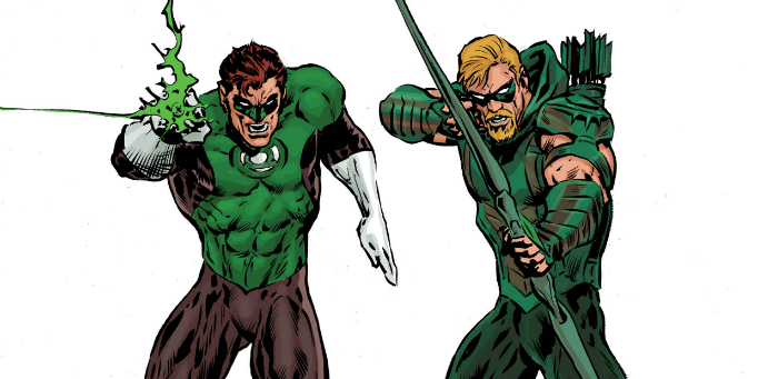 Oliver Queen shoots by 'The Green Lantern' #8 for a first-rate team-up