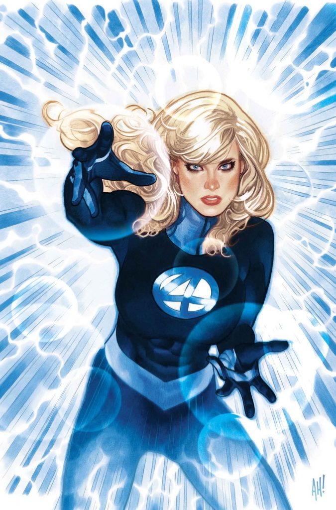 Undercover: Sue Storm radiates power and prestige with Hughes' 'Invisible Woman'