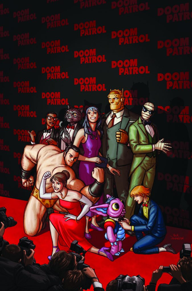 From Nick Derington's red carpet roll-out for 'Doom Patrol' to Eido Yoshimizu's remaster of 'Ryuko, Vol. 1', here are the covers we love the most this week.