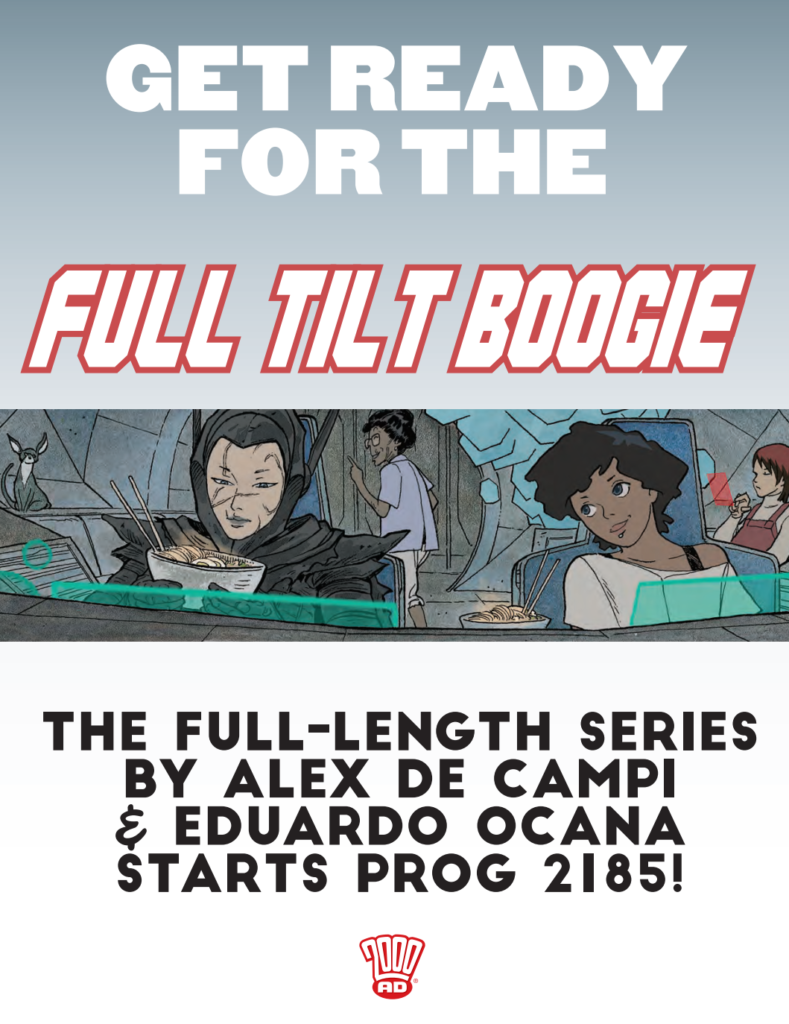 8 things concerning Alex de Campi and the sci-fi shenanigans of 'Full Tilt Boogie'
